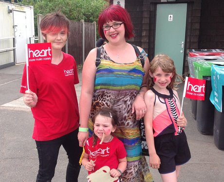 Heart Angel Melissa with Bethan, Freya and Isla from Stockport.