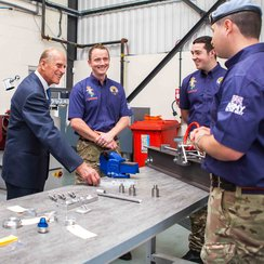 Prince Phillip at Bloodhound Project Bristol