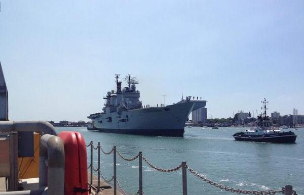 HMS Illustrious homecoming
