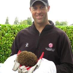 Marcus Trescothick and hedgehog