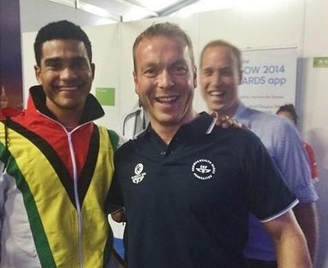 Prince William and Chris Hoy Photobomb