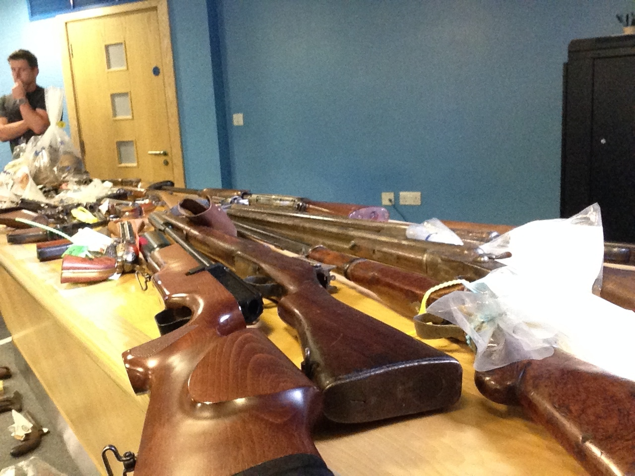 guns handed in to West Midlands
