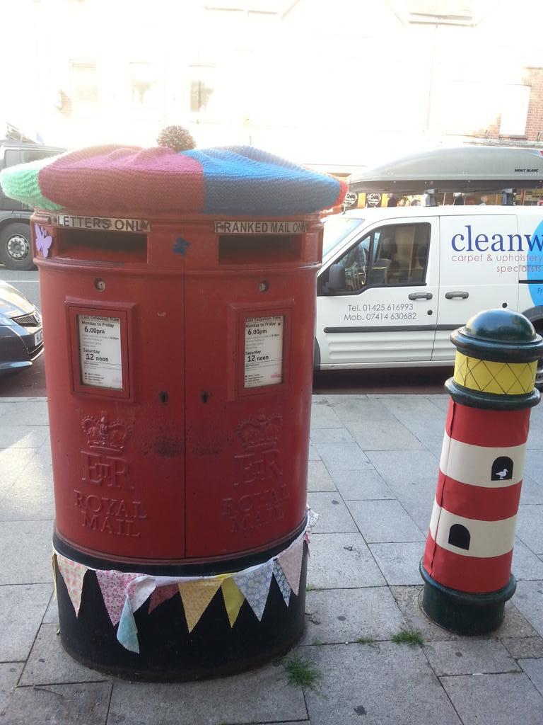 New Milton craft bomb post box