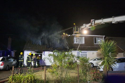 Waterlooville bungalow fire man dies