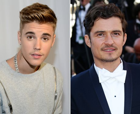 Justin Bieber and Orlando Bloom