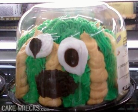 a disastrous creature cake