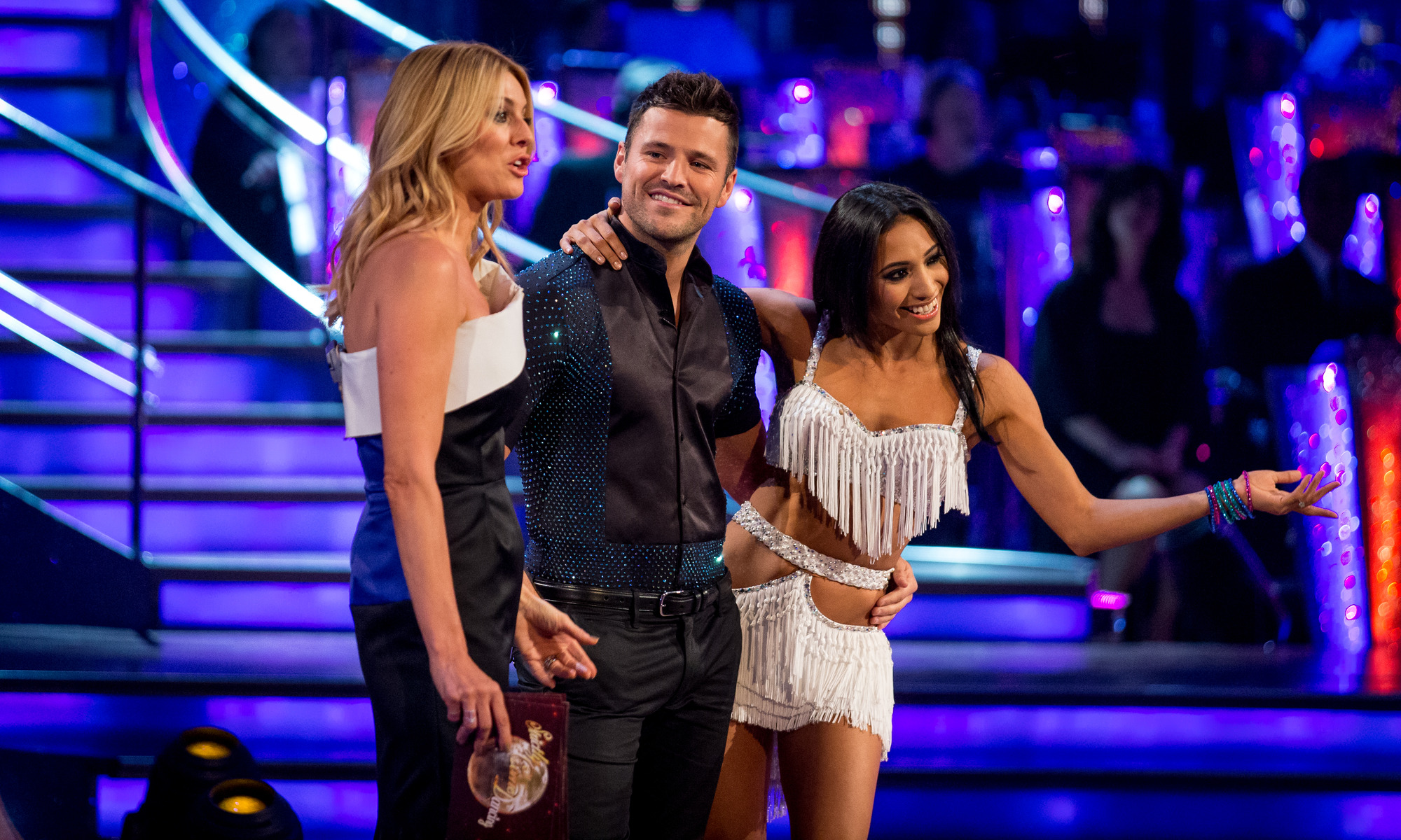 Mark Wright, Tess Daly and Karen Hauer