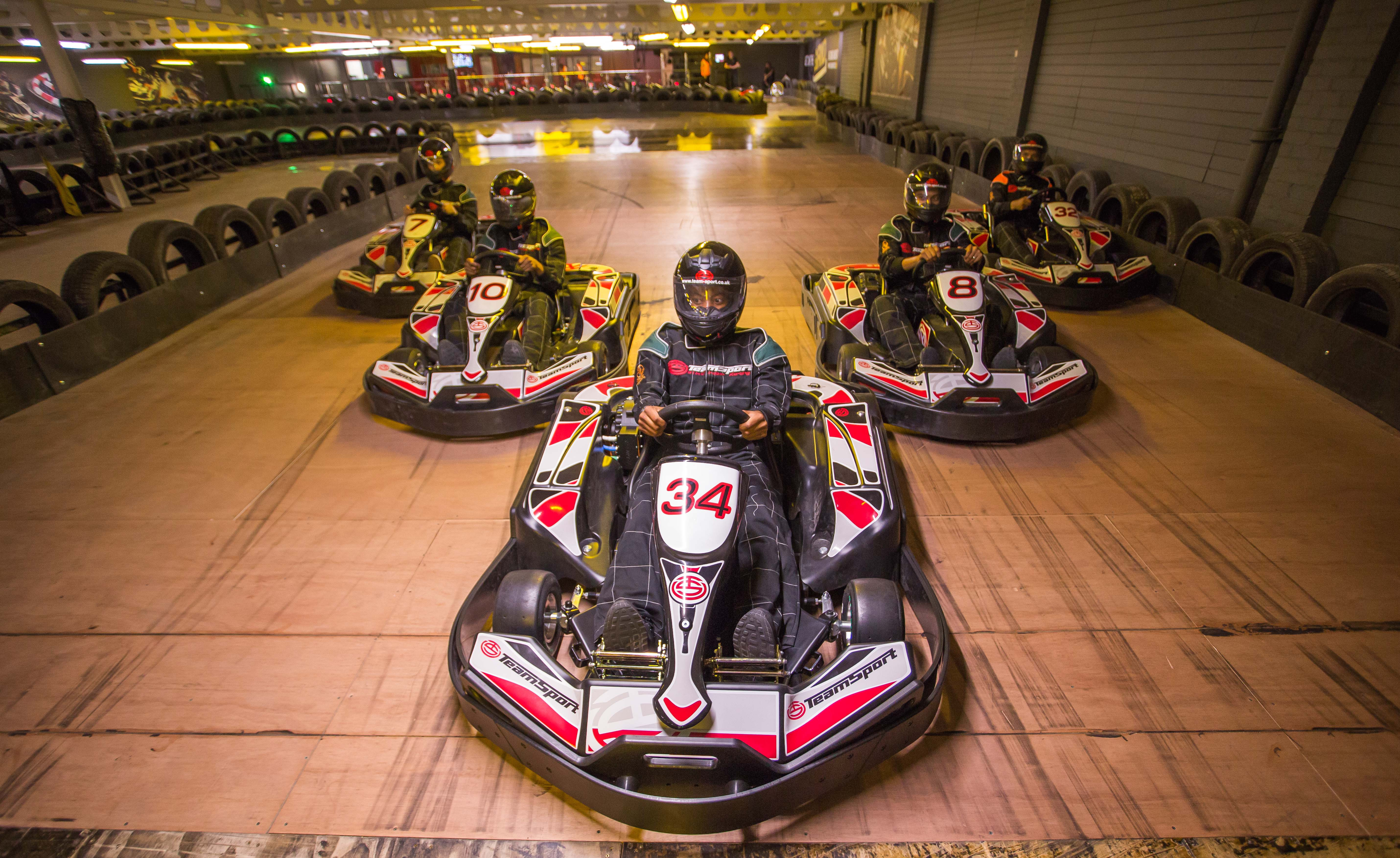 Go Karting, race track TeamSport ,Acton,
