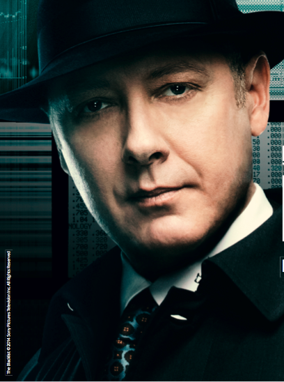 James Spader in character