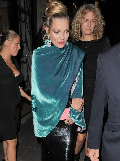 Kate Moss attends afterparty for London Fashion