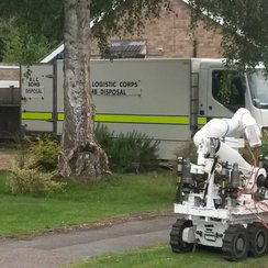Police and bomb disposal at St Albans home