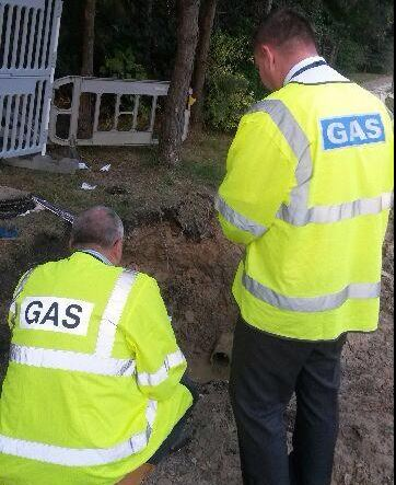 gas main Canford Heath Poole