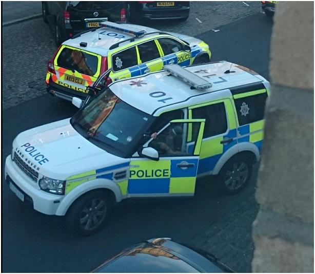 north shields armed police stand off