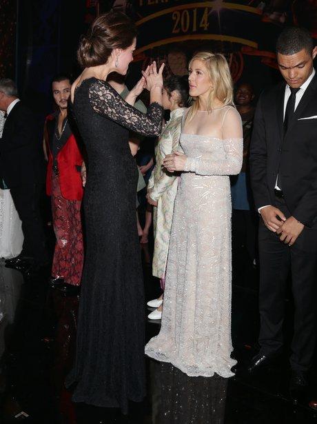 Kate Middleton and Ellie Goulding Royal Variety Pe