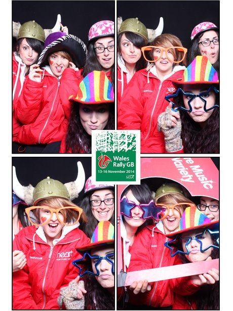 Angels in photo booth
