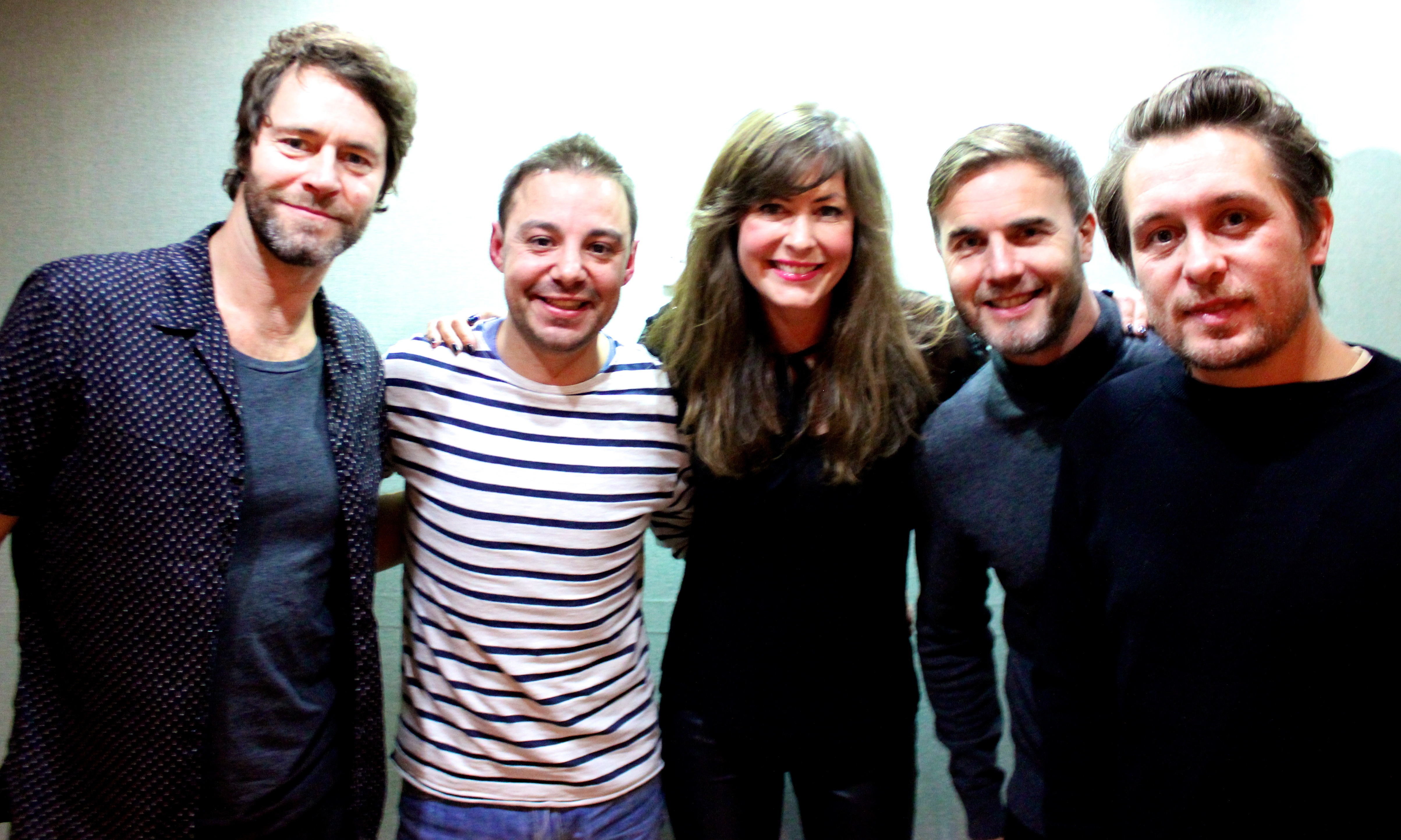 JK & Lucy with Take That