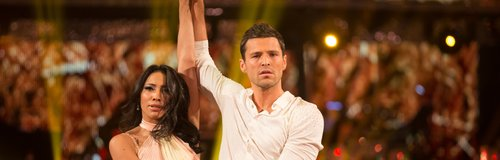 Mark Wright and partner doing a rumba
