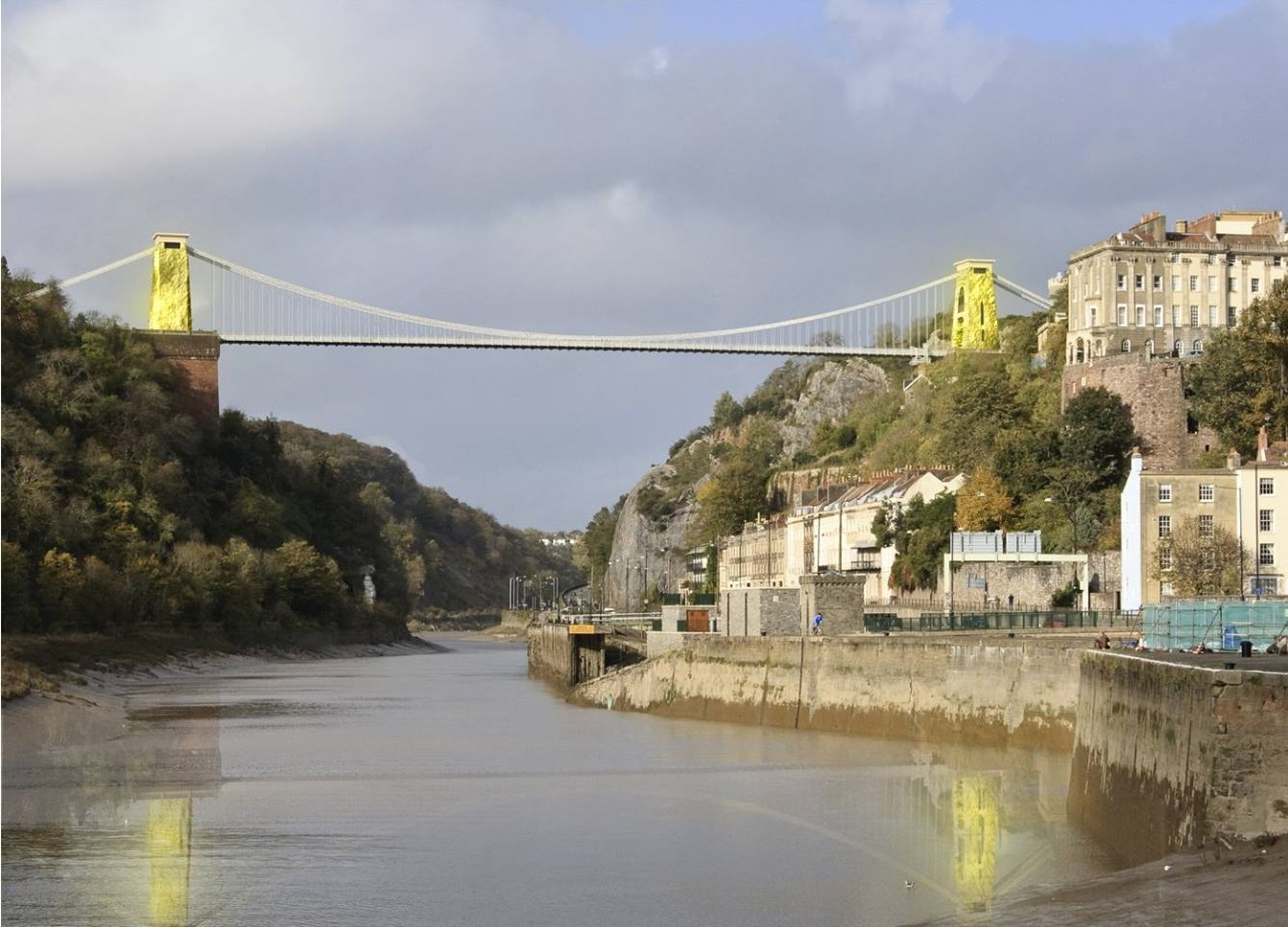 Luke Jerram  -Gold Clifton Suspension Bridge idea2