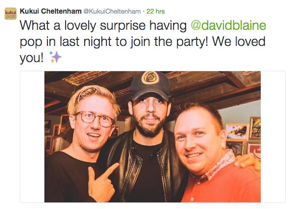 David Blaine Cheltenham Twitter Picture