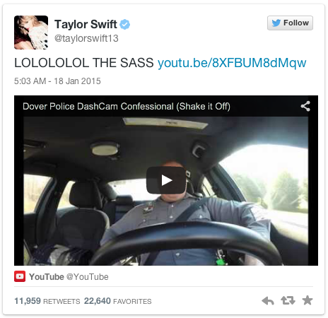 Taylor Swift Cop Video
