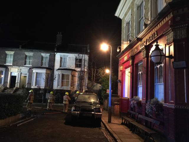 EastEnders Set Fire