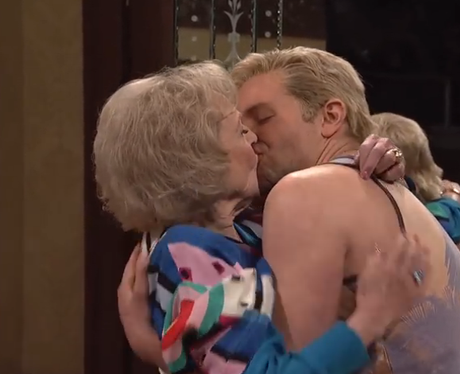 Bradley Cooper and Betty White kissing