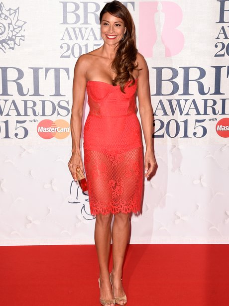Melanie Sykes at The Brit Awards 2015