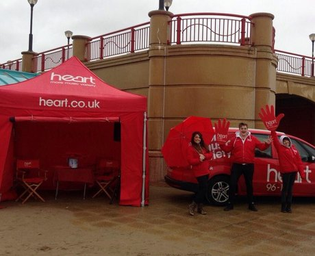 The heart angels have just set up