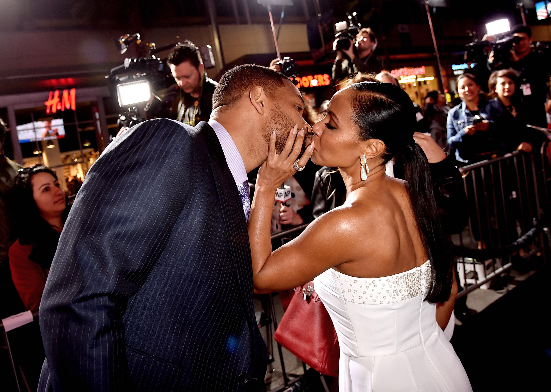 Will Smith and Jada Pinkett Smith Kiss