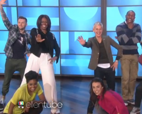 Michelle Obama dancing on 'The Ellen DeGeneres Sho