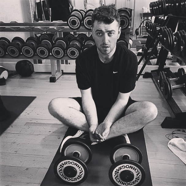 Sam Smith in the gym