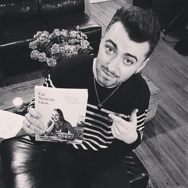 Sam Smith reading book