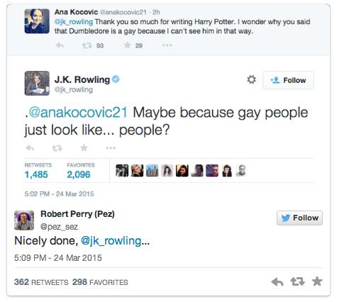 J.K. Rowling tweet