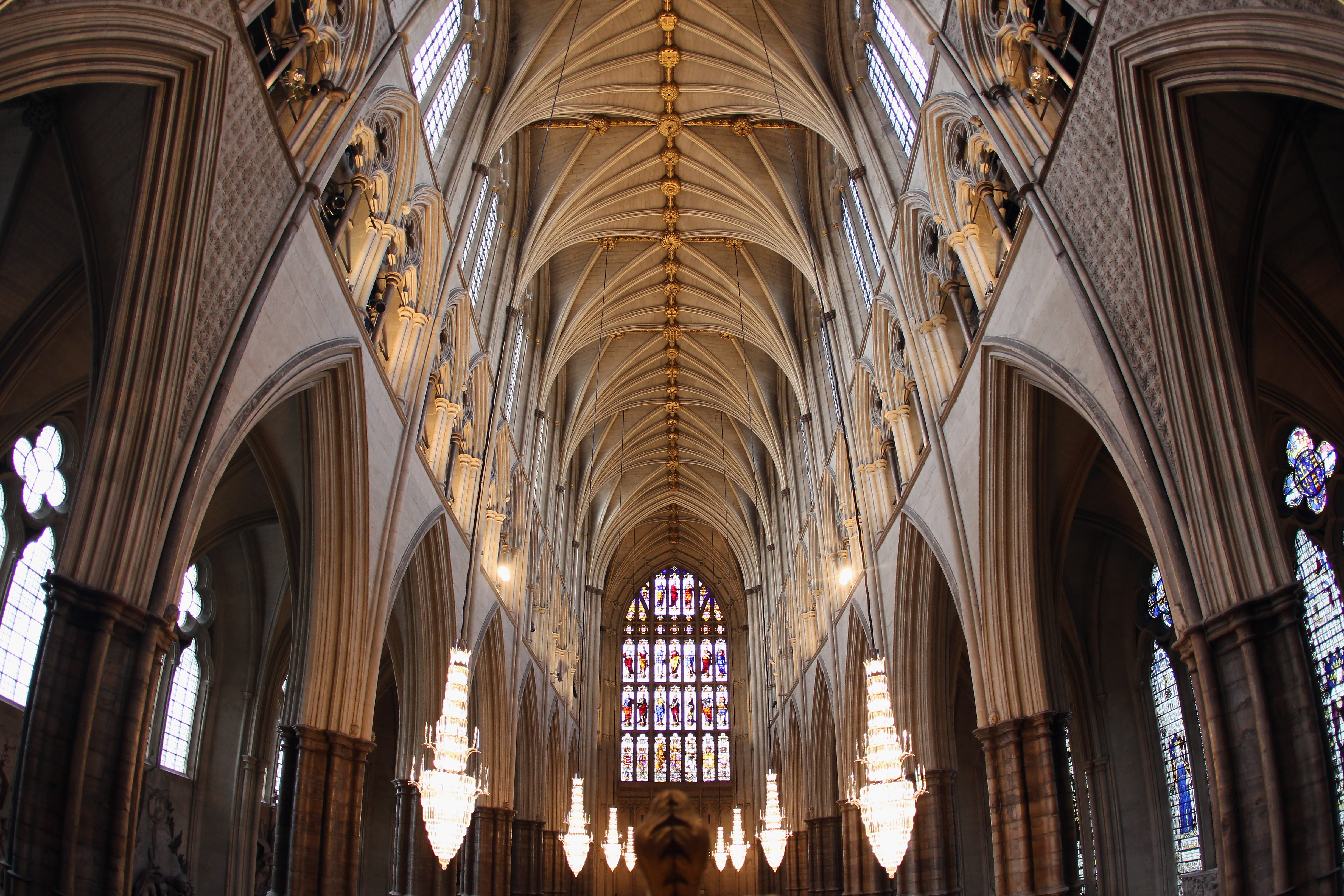Westminster Abbey ceiling interior