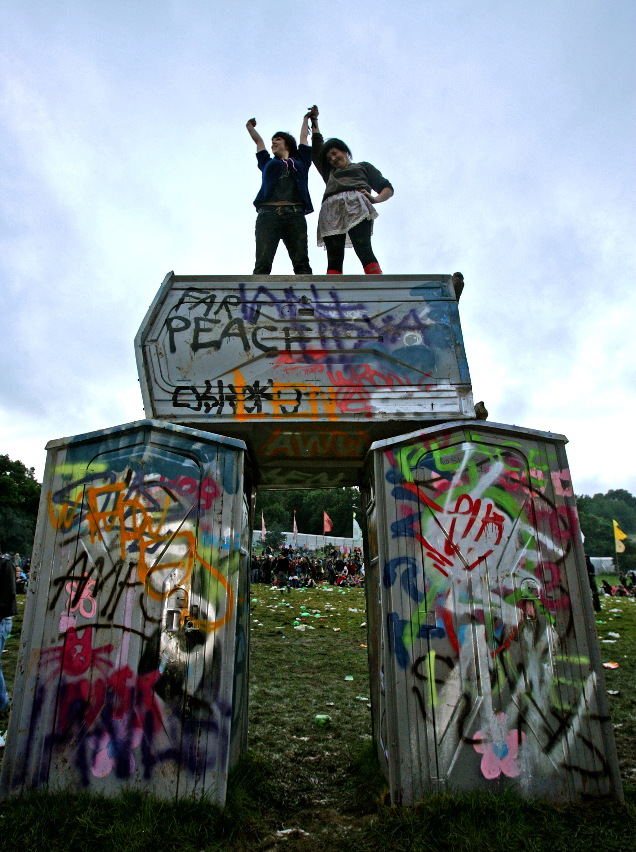 Banksy Stonehenge Glastonbury