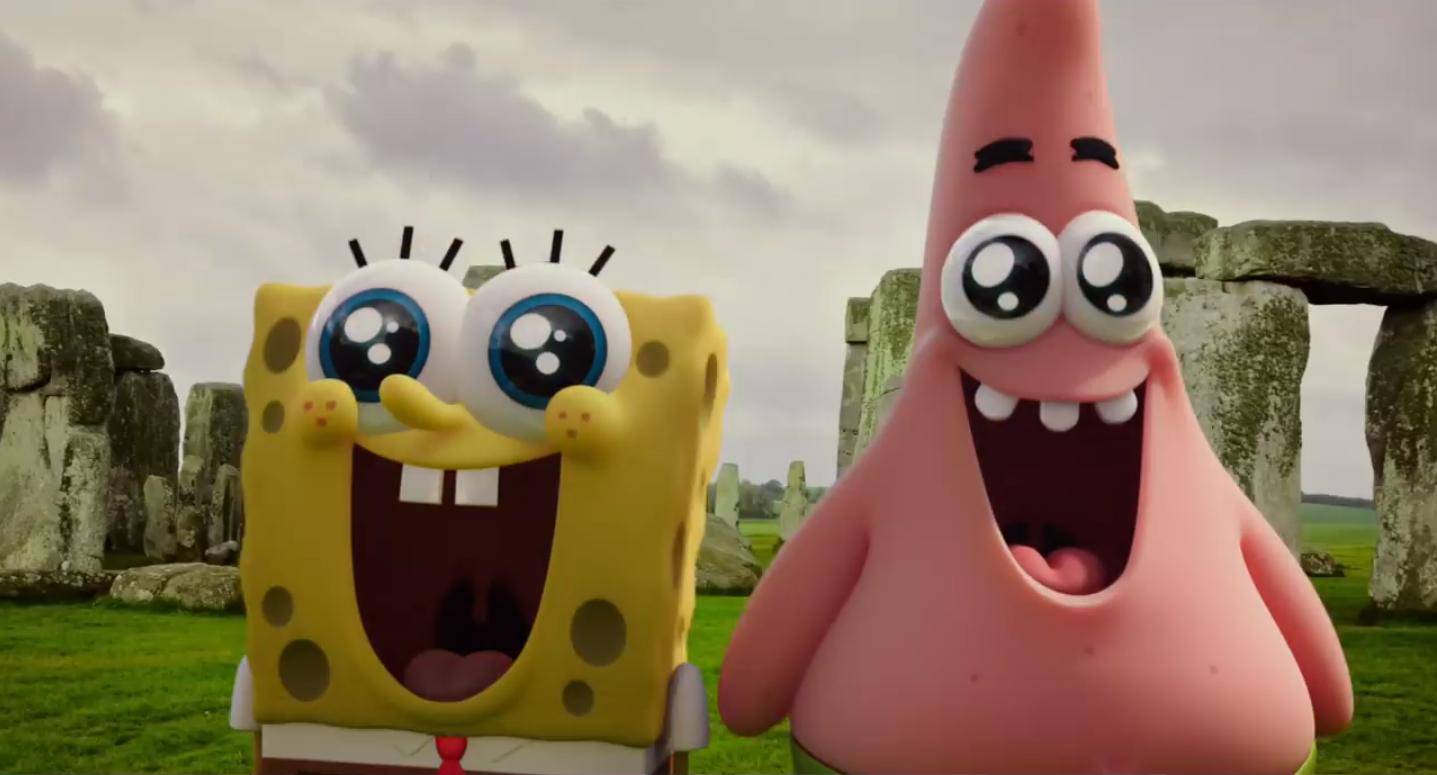 Spongebob Squarepants at Stonehenge