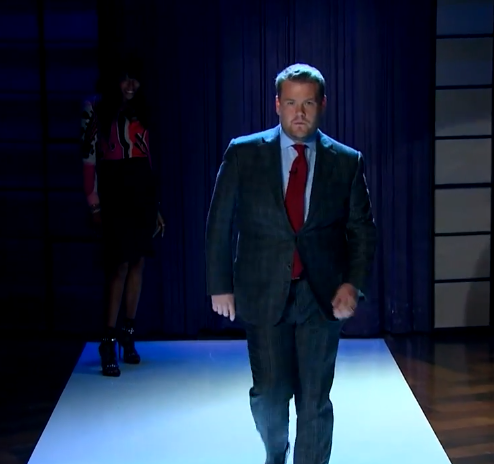 James Cordon on the catwalk