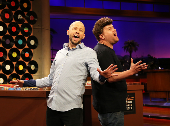 Jon Cryer & James Cordon Late Late Show Duckie Dan