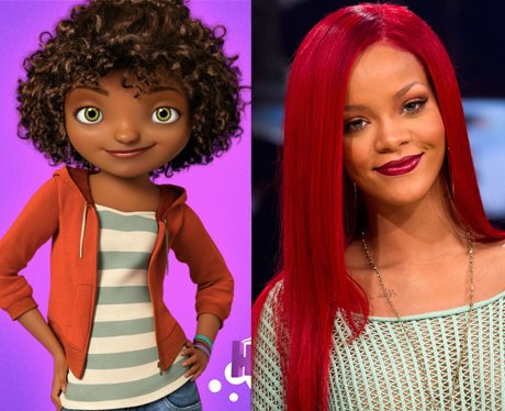Celebrity cartoon voices over
