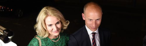 Helle Thorning Schmidt and Stephen Kinnock Arrive
