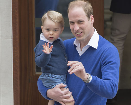 Prince William bring Prince George to visit his ba