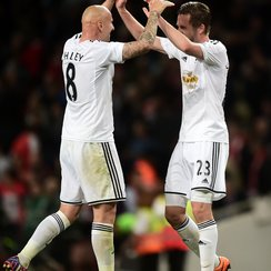 Jonjo Shelvey and Gylfi Sigurdsson