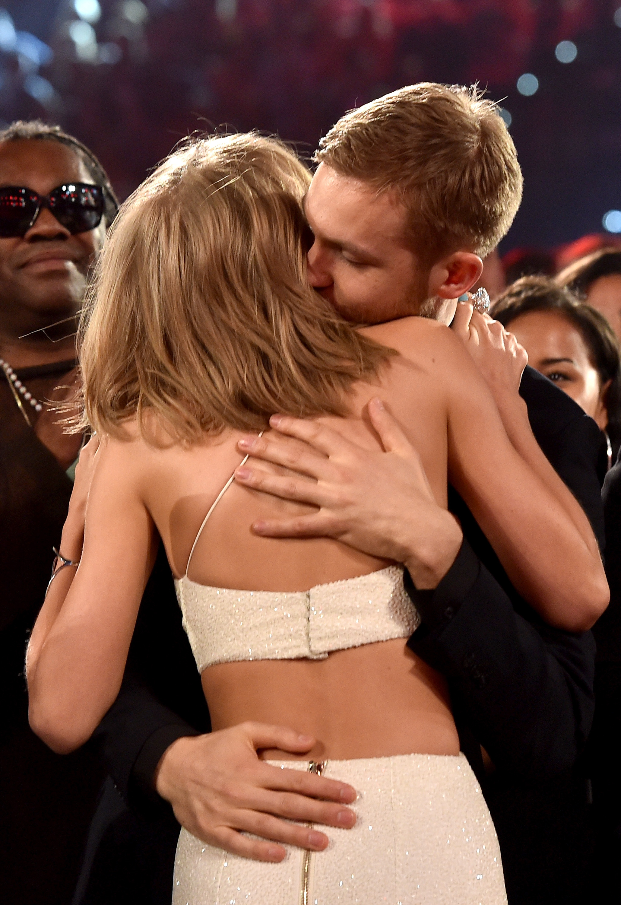 Taylor Swift and Calvin Harris Hug Billboard Music