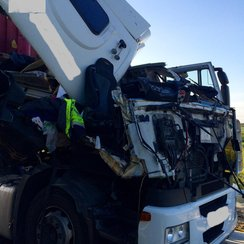 A14 lorry crash 2