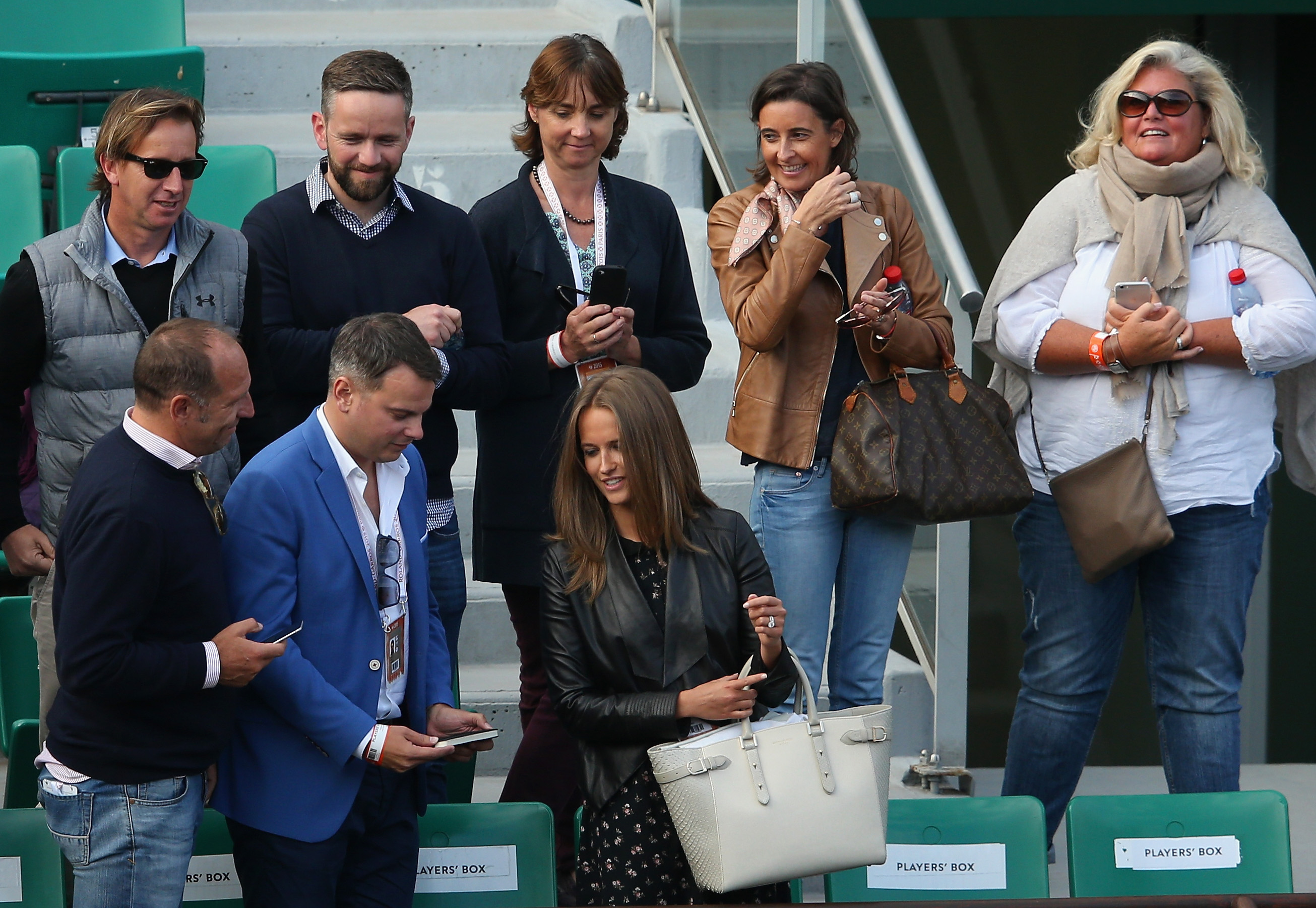 kim Sears Murray at the french open 2015