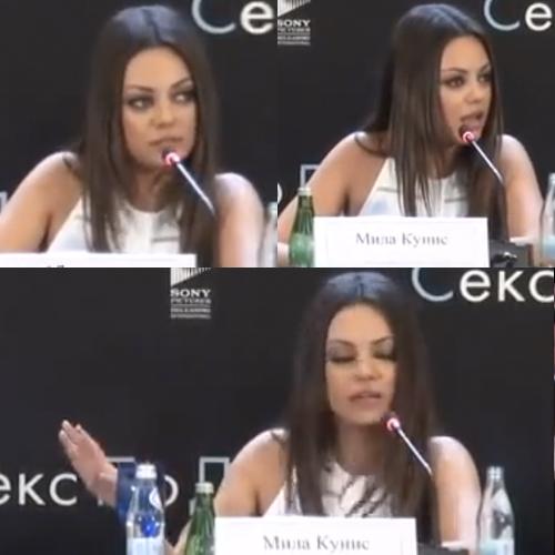 Mila Kunis puts down reporter