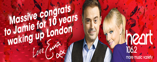 Jamie and Emma 10th Anniversary Banner
