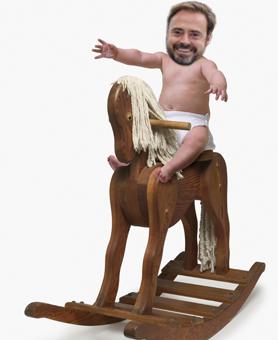 Jamie on a rocking horse