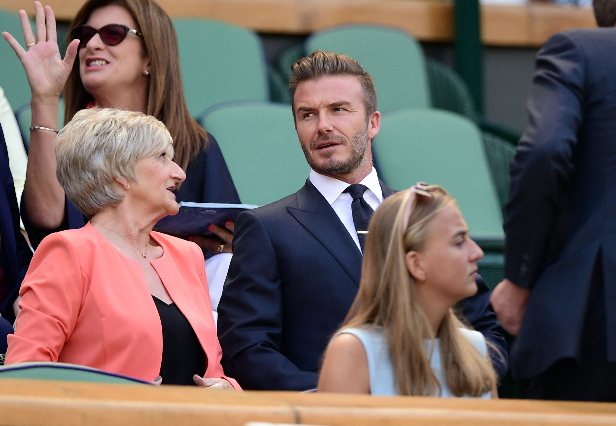 David Beckham takes his Mum to Wimbledon Day Ten