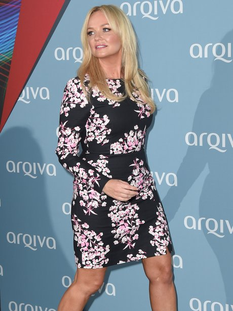 Emma Bunton in a floral dress